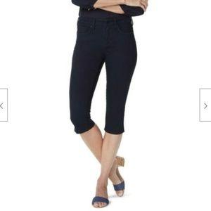 NYDJ Skinny Capri Jean in Black Petite Size 4P